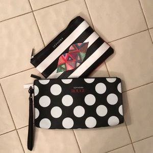 NWT Sephora makeup bag bundle
